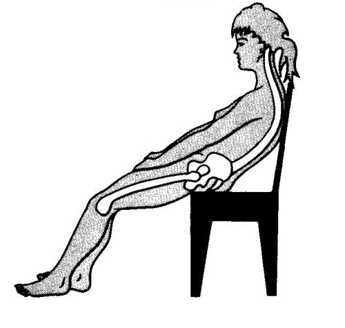 椅子に座った時の姿勢