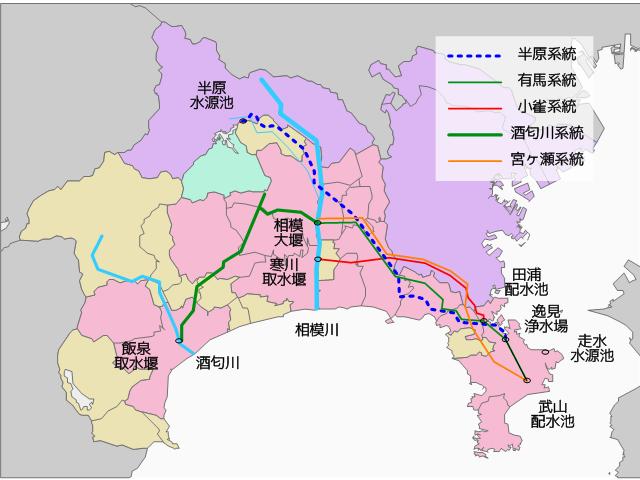 横須賀水道マップ
