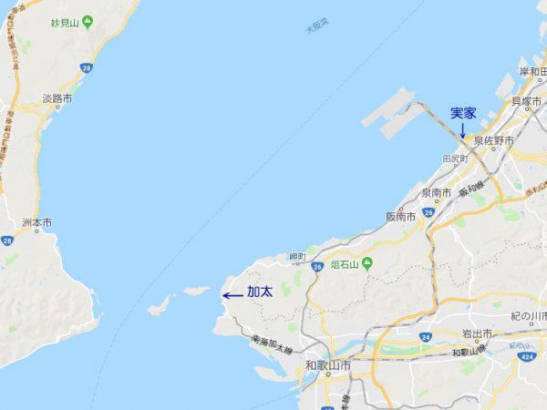 加太付近地図